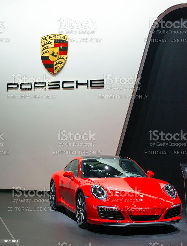 Porsche 911 Carrera S sports car stock photo