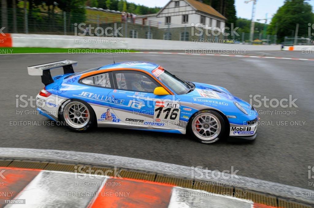 \'Spa, Belgium - July 25, 2009: Jetalliance Racing Porsche 911 GT3 Cup...