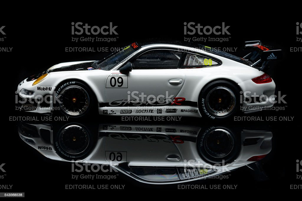 Porsche 911 GT3 RSR 2016 race car model stock photo
