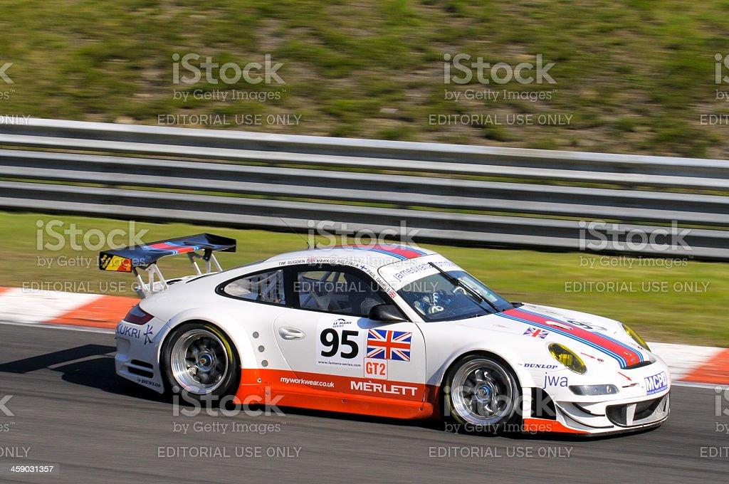 Porsche 911 race car stock photo