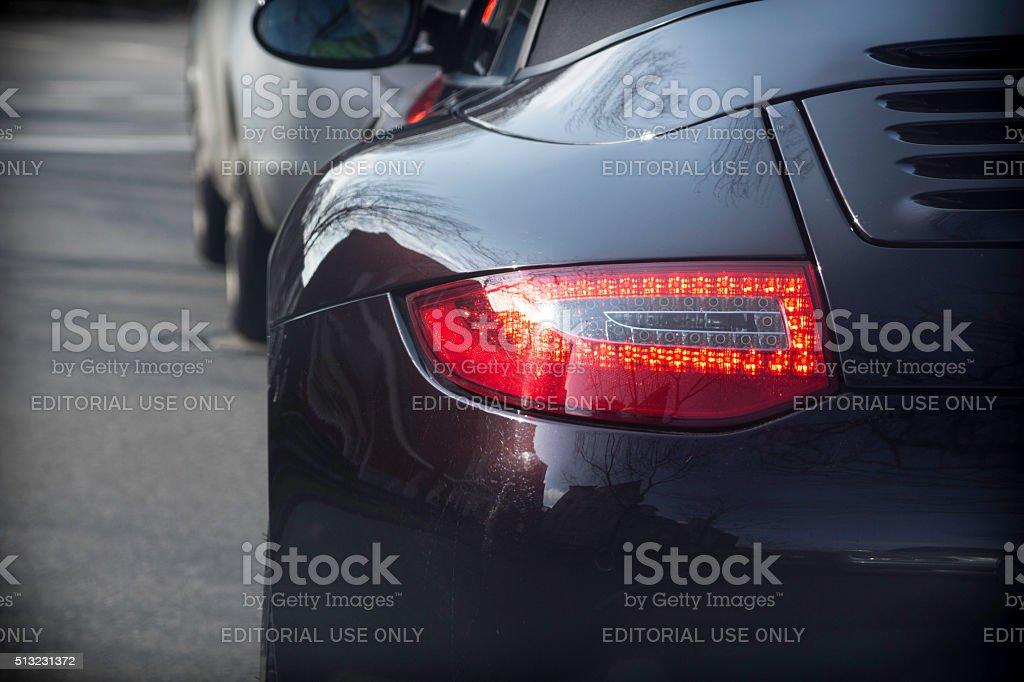 Porsche 911 rear light stock photo
