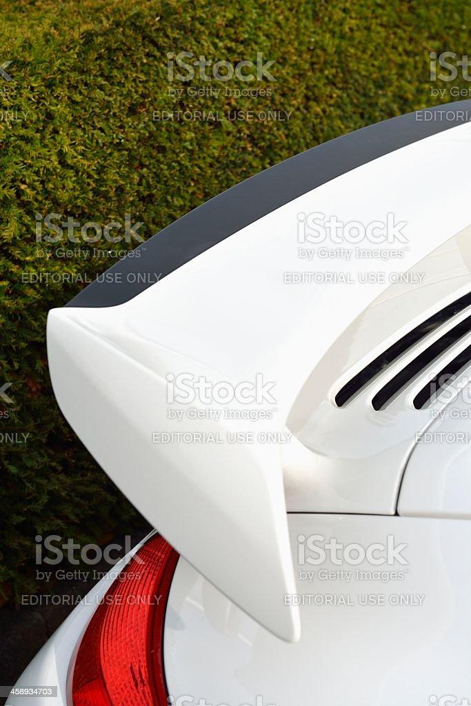 Porsche 911 spoiler stock photo