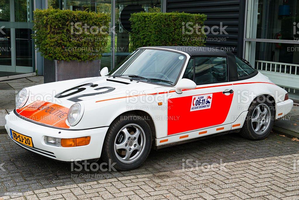 Porsche 911 Targa Police Car stock photo