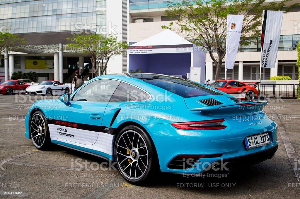Porsche 911 Turbo S 2016 car stock photo