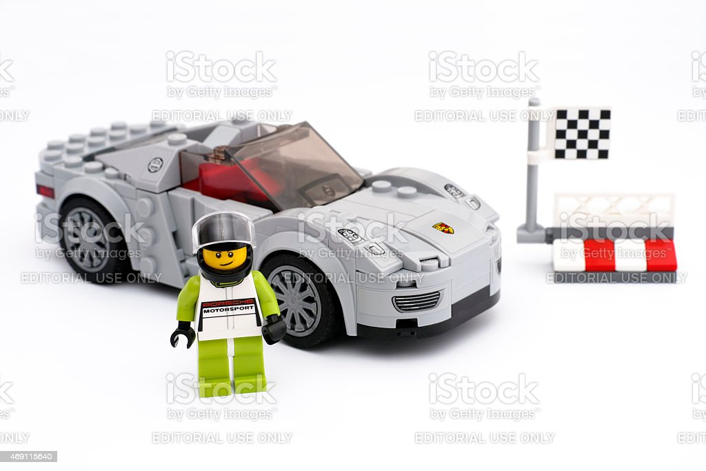 Porsche 918 Spyder by LEGO Speed Champions stock photo