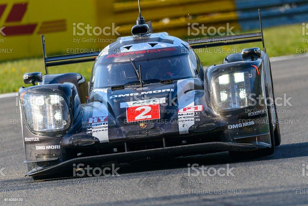 Porsche 919 Hybrid race car at Spa Francorcahmps stock photo