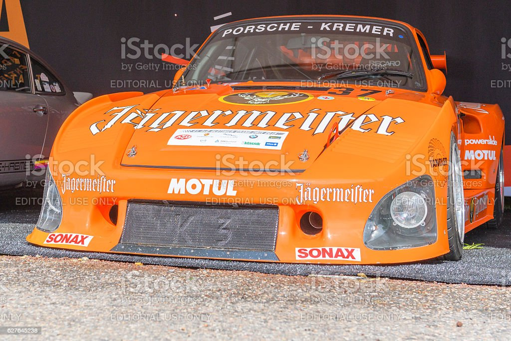 Porsche 935 K3 Bi-Turbo Jägermeister Kremer stock photo