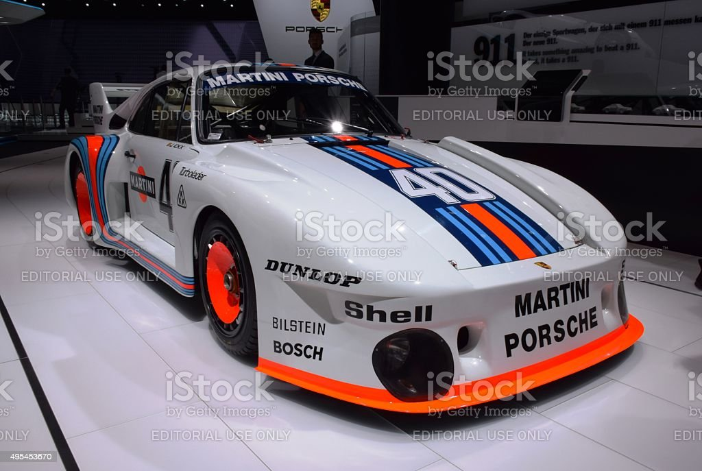 Porsche 935 Martini on the motor show stock photo