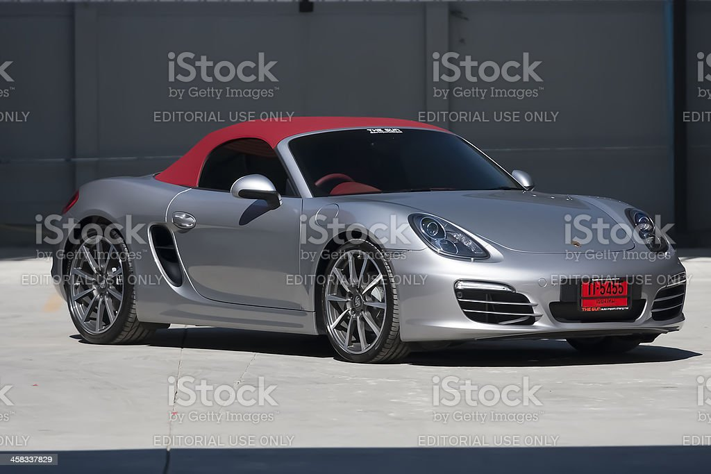 Porsche Boxster front view stock photo