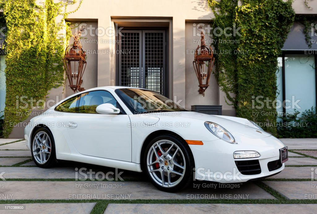 Porsche Carerra S 2009. royalty-free stock photo