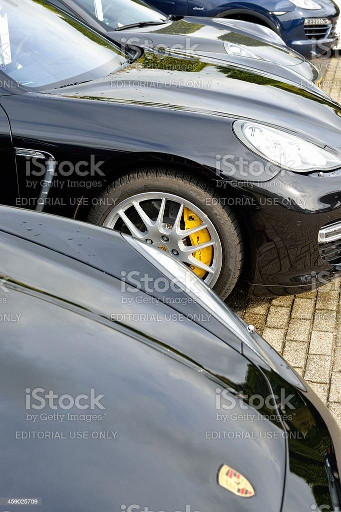Porsche cars stock photo