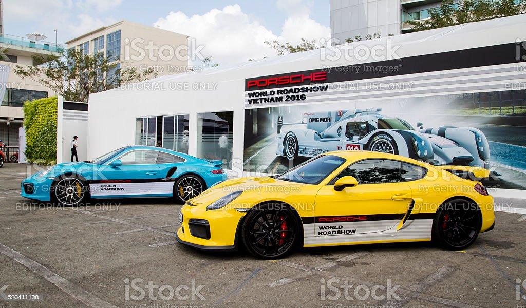 Porsche Cayman GT4 car stock photo