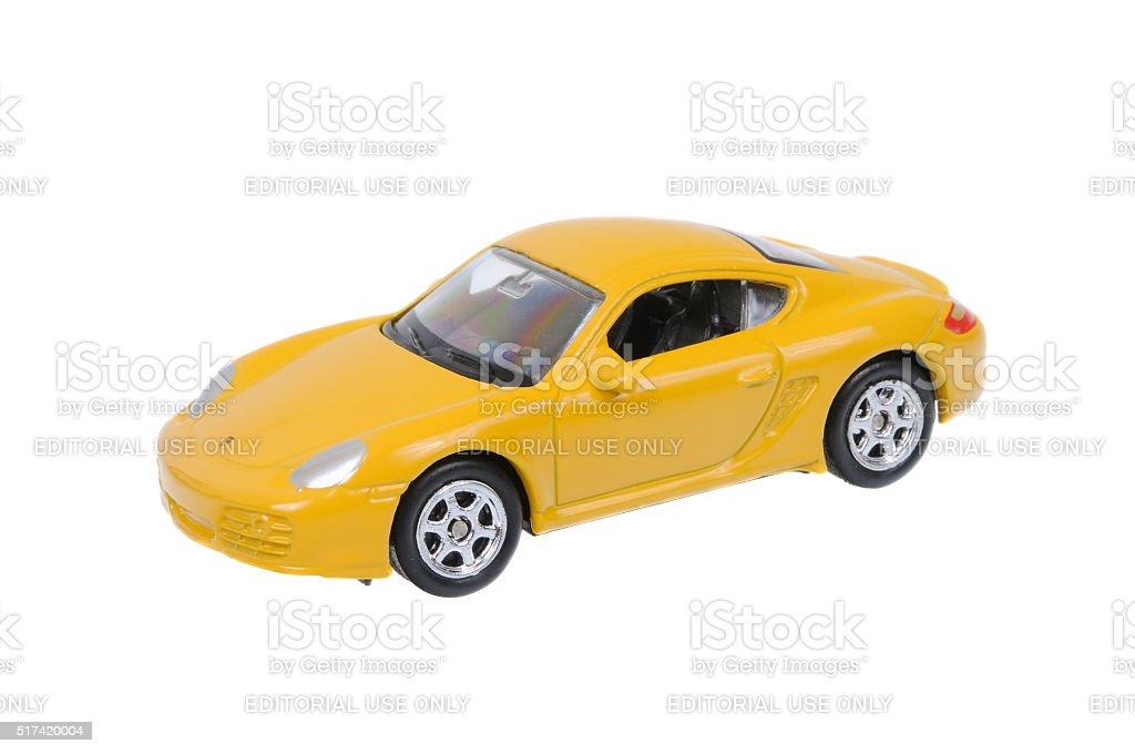 Porsche Cayman S Welly Diecast Toy Car stock photo