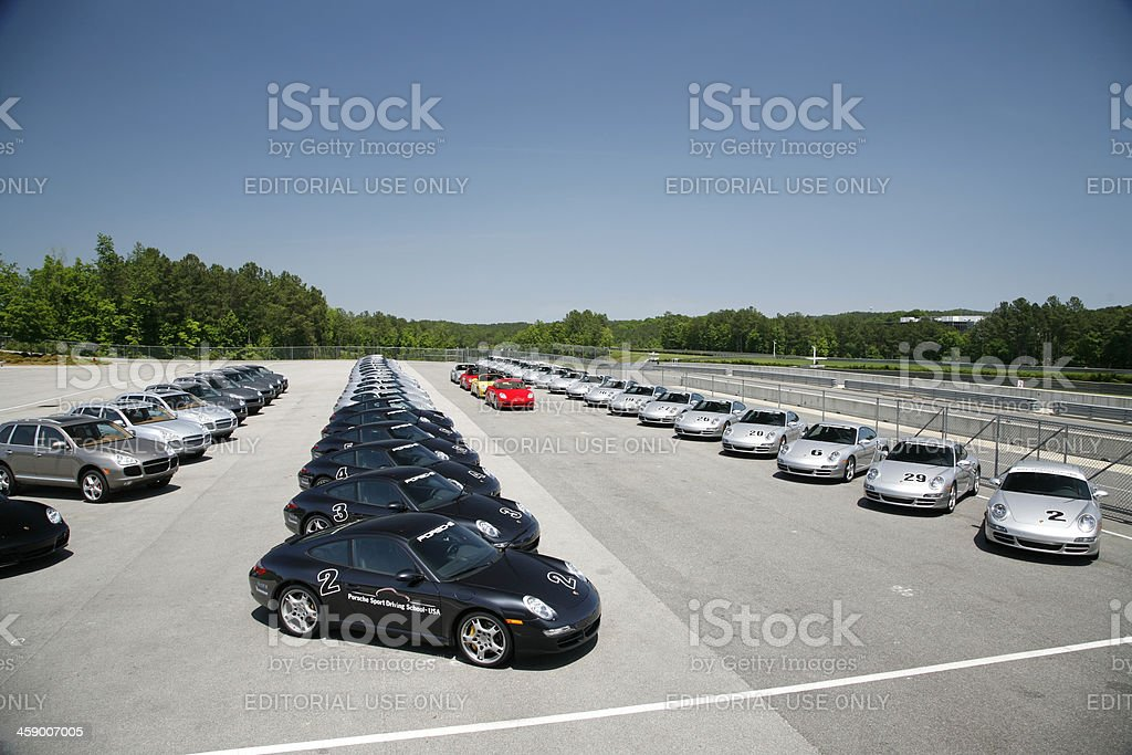 Porsche Driving School royalty-free stock photo