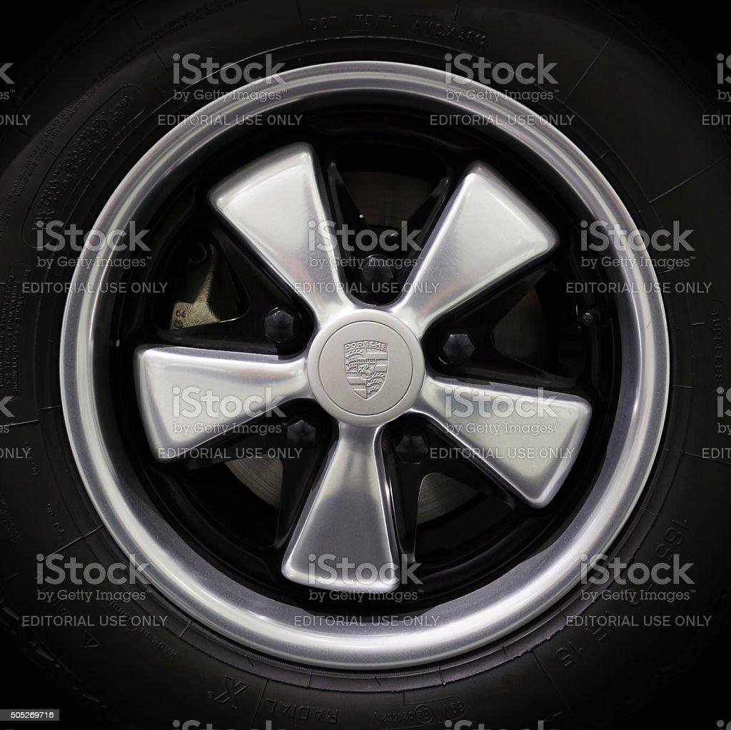 Porsche Wheel stock photo