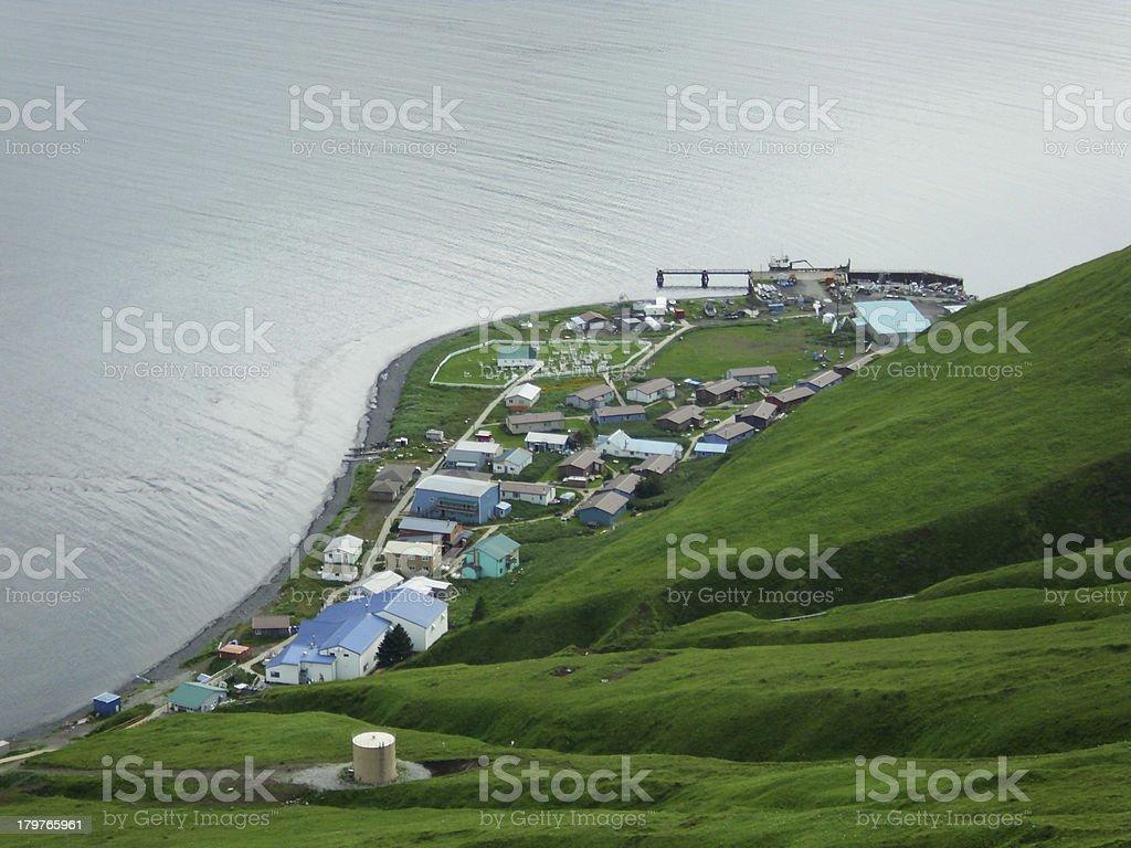 Port Akutan - Unalaska. stock photo