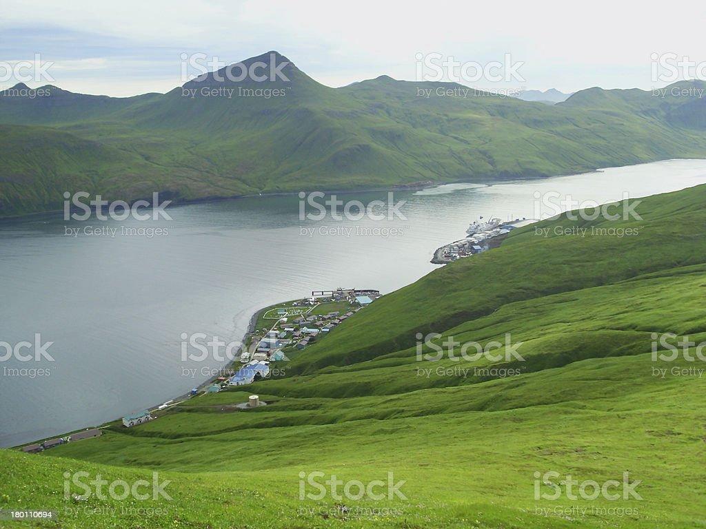 Port Akutan - Unalaska stock photo