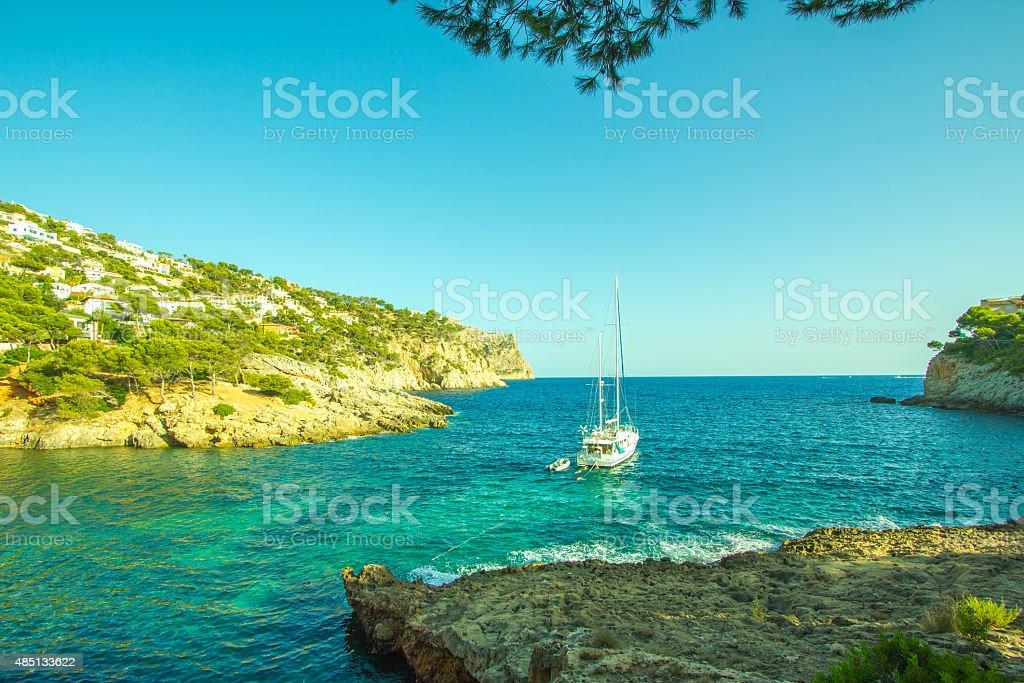 Port Andratx view on a Port Mallorca Palma de Majorca stock photo