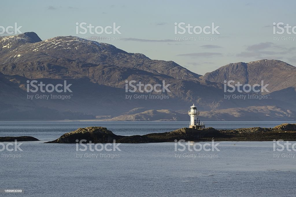 Port Appin Lighthouse stock photo