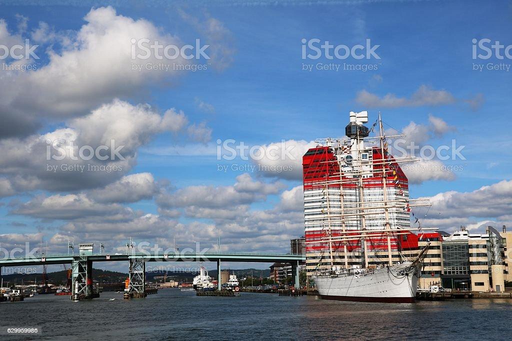 Port area Lilla Bommen in Gothenburg, Sweden Scandinavia stock photo