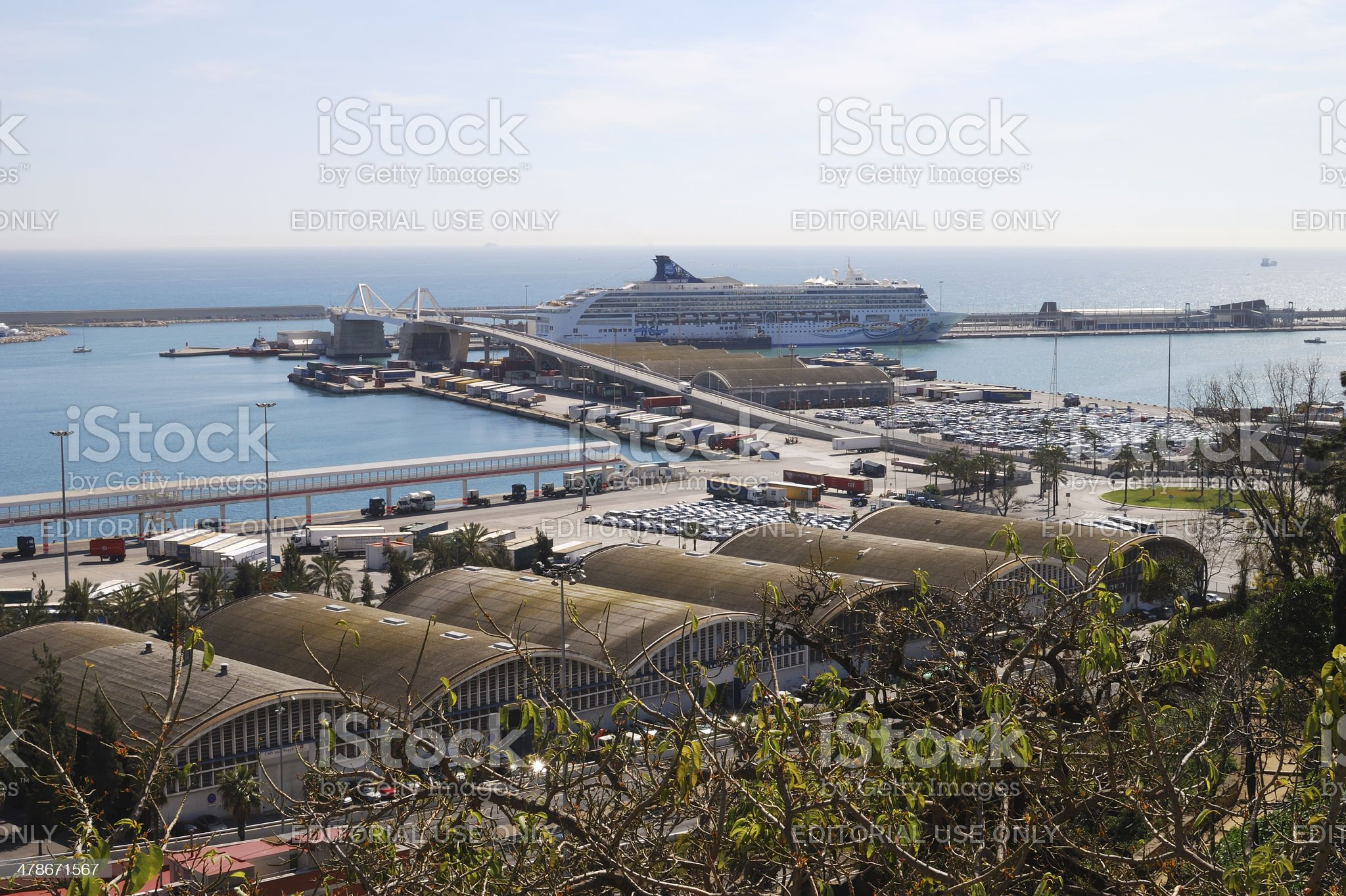 Port at Barcelona. Catalonia. Spain royalty-free stock photo