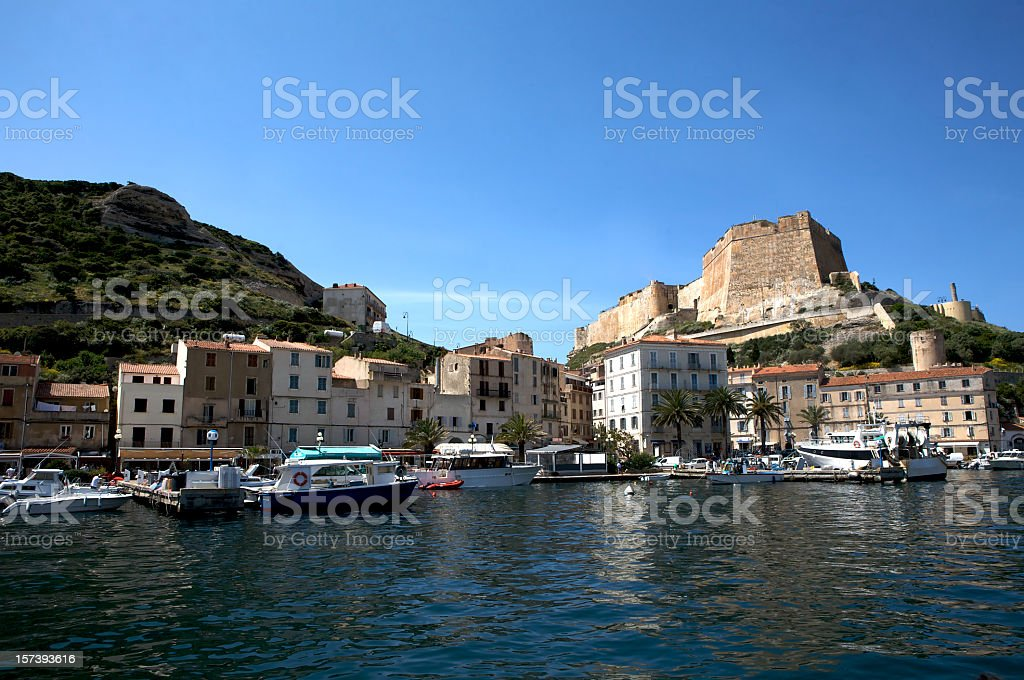 Port at Bonifacio stock photo