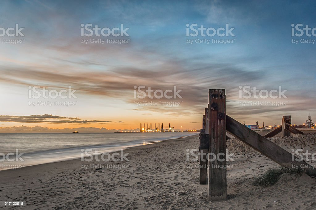 Port at Sunrise stock photo