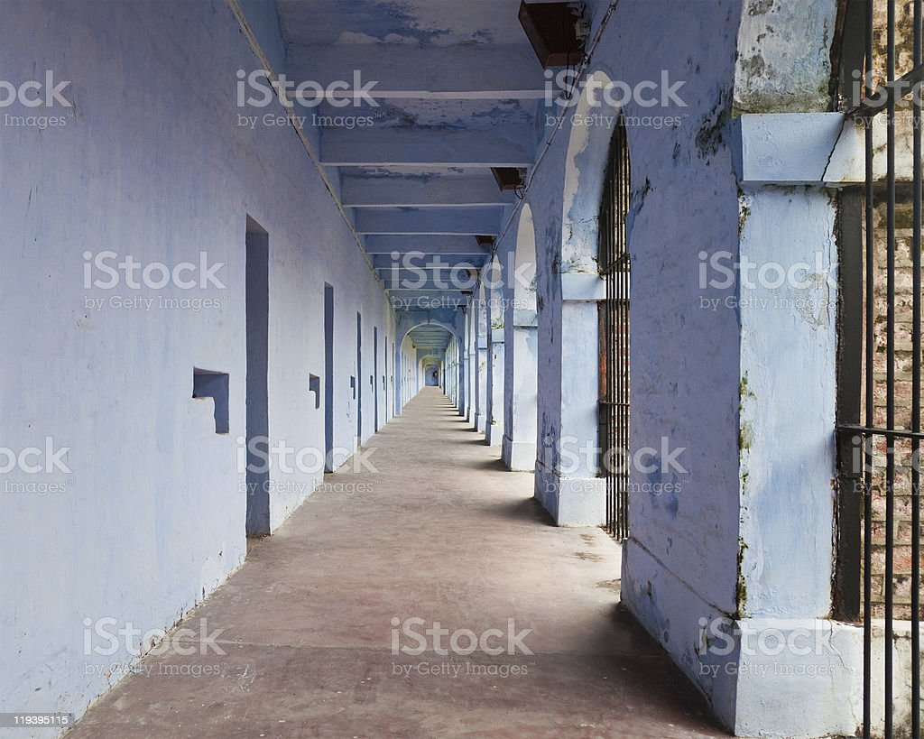 Port Blair Prison Cells stock photo