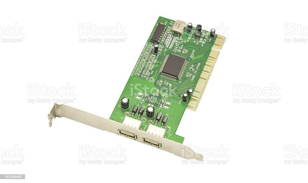 USB port card royalty-free stock photo