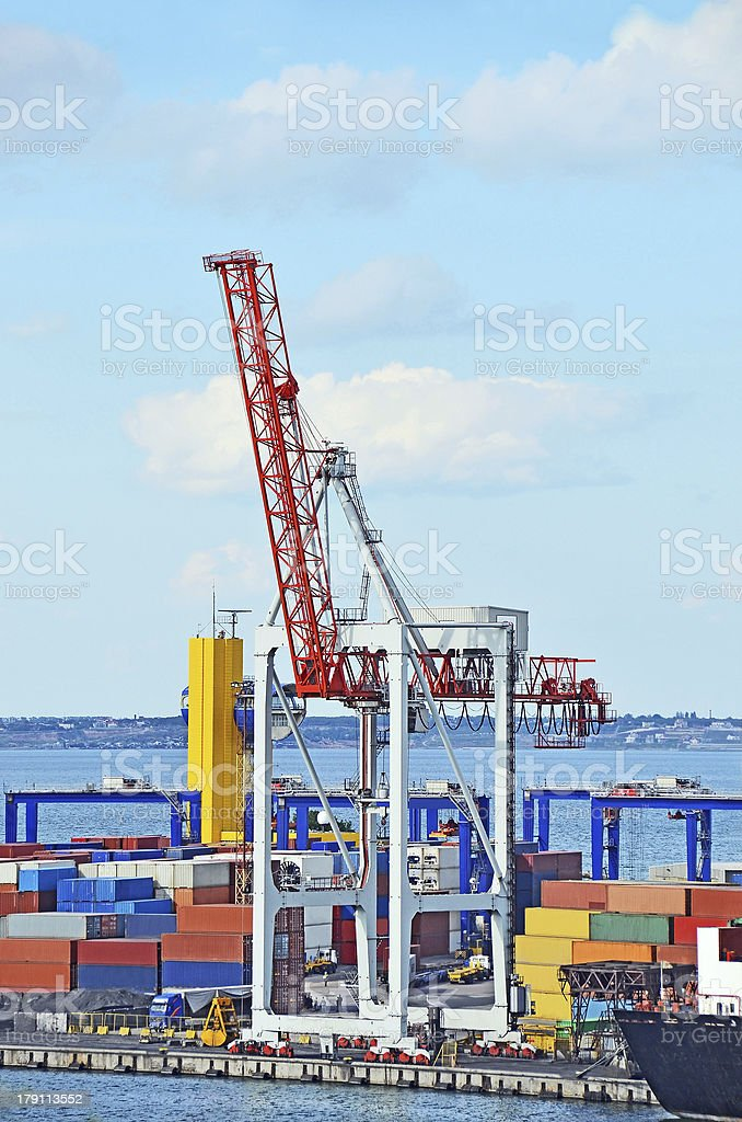 Port cargo crane royalty-free stock photo