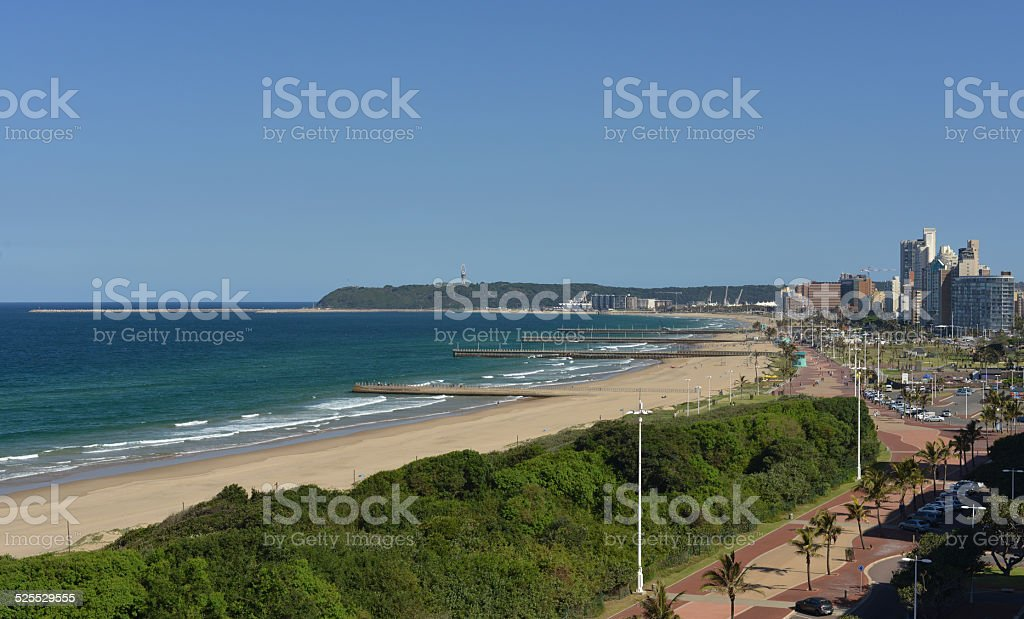 Port city of Durban, South Africa stock photo