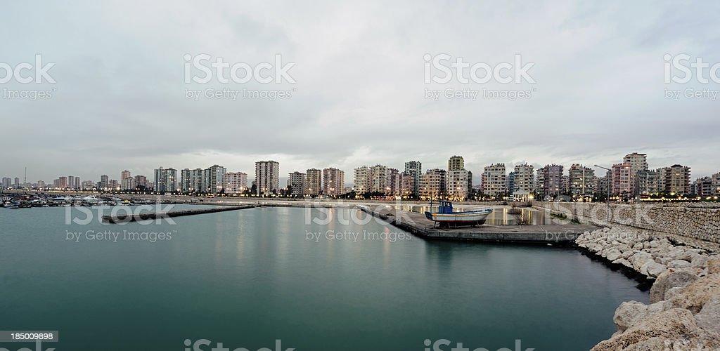 port city of Mersin in Turkey stock photo