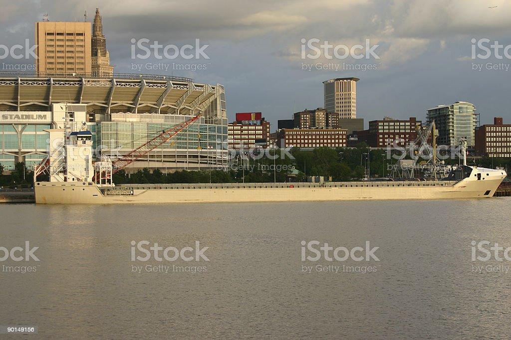 port city stock photo