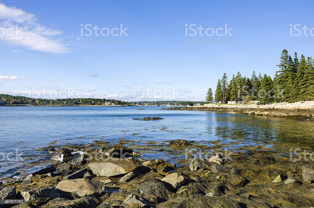 Port Clyde Harbour, Maine stock photo