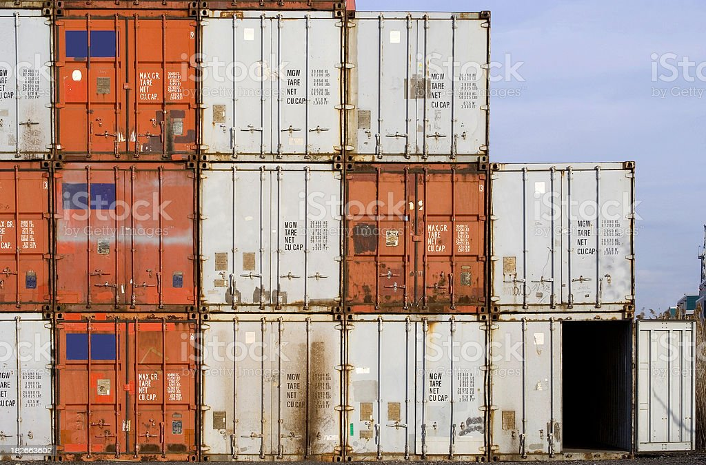Port Containers royalty-free stock photo