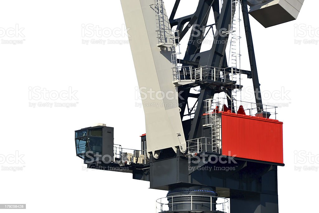 Port crane stock photo