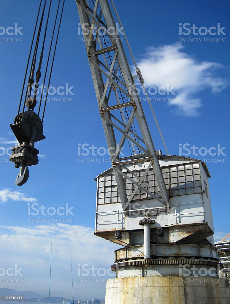 Port crane stock photo