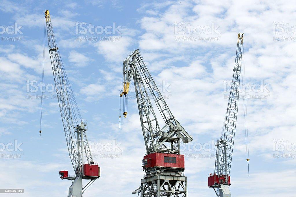 Port cranes royalty-free stock photo