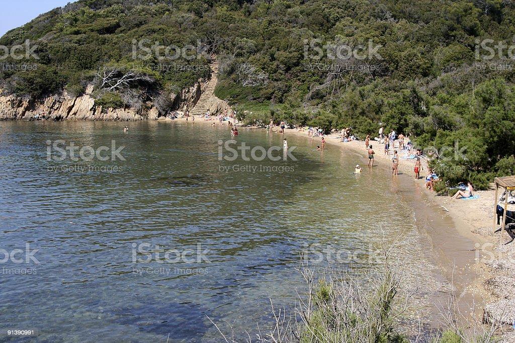 port cros beach royalty-free stock photo