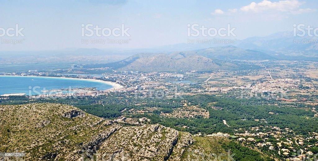 Port d'Alcudia, bay of Alcudia, Majorca, Spain stock photo