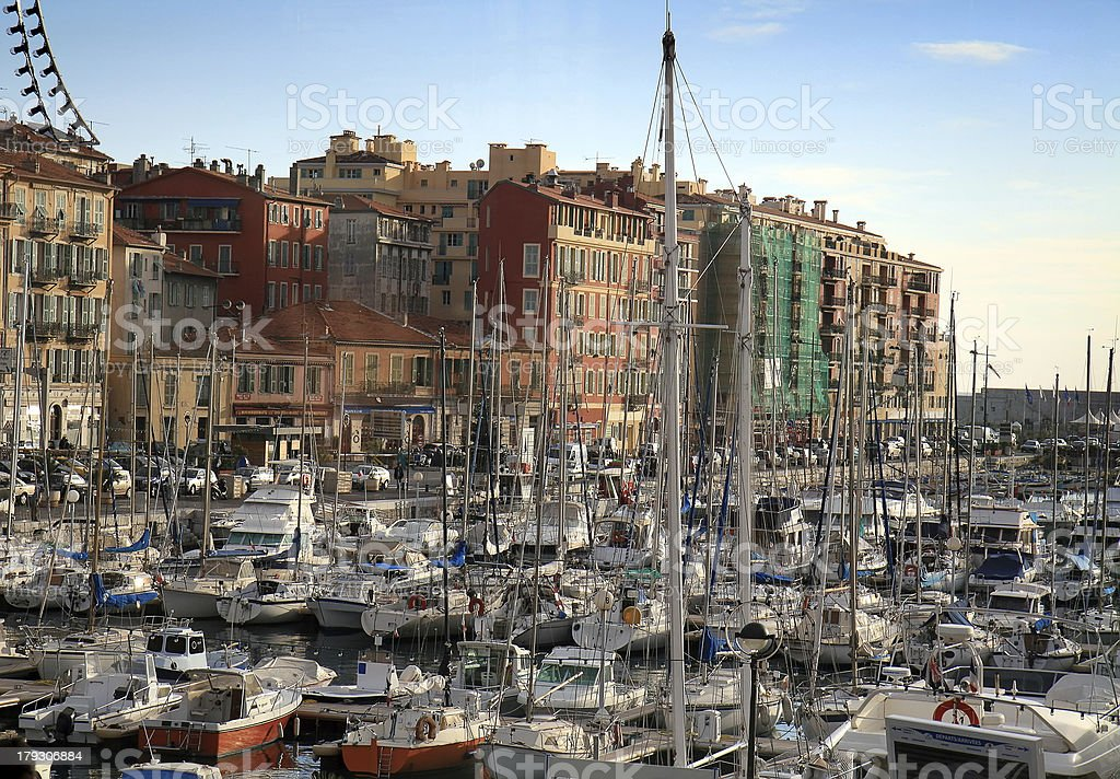 Port de Nice in French Riviera royalty-free stock photo