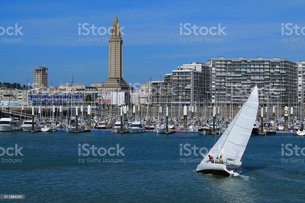 Port de plaisance du Havre, France stock photo