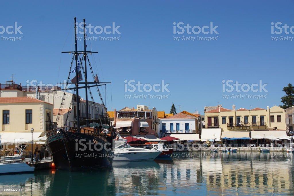 Port de Réthymnon stock photo