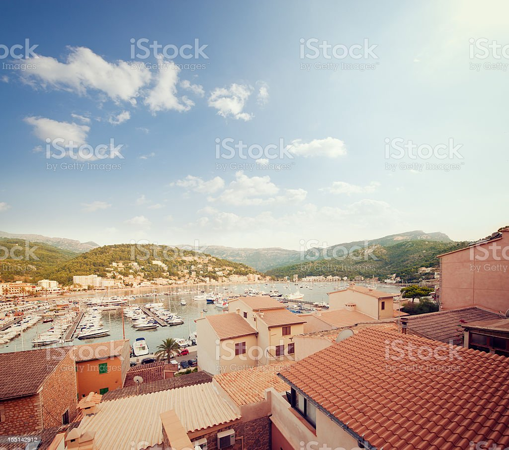 Port de Sóller, Mallorca stock photo