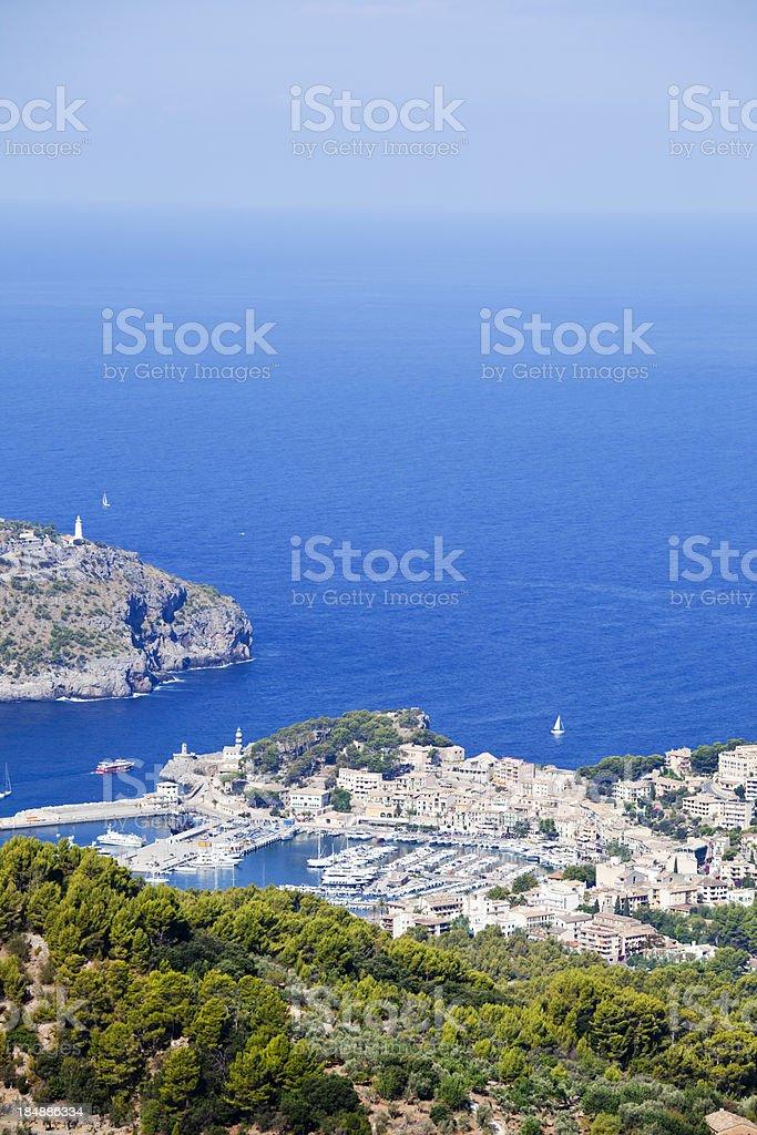 Port de Soller Majorca stock photo