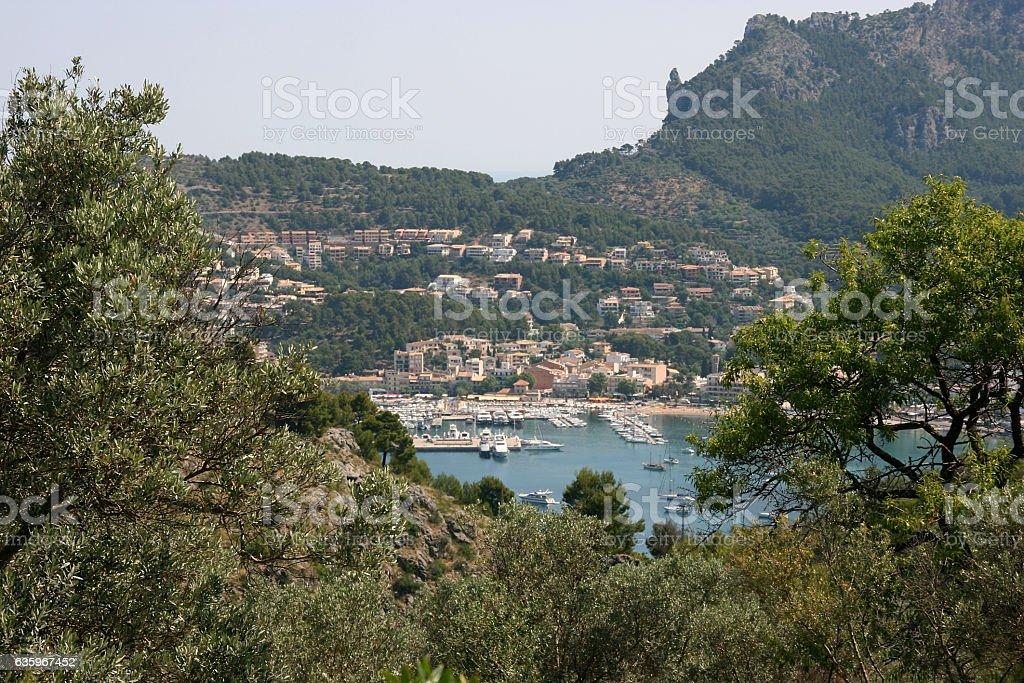 Port de Soller, Mallorca, Spain stock photo