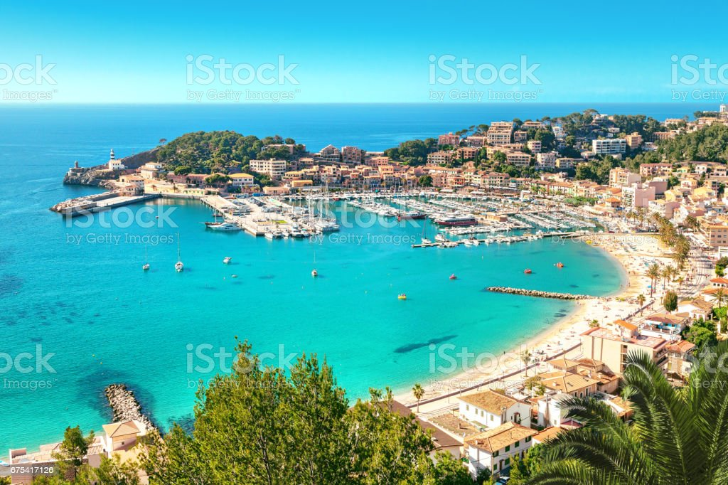 Port de Soller, Mallorca, Spain stock photo