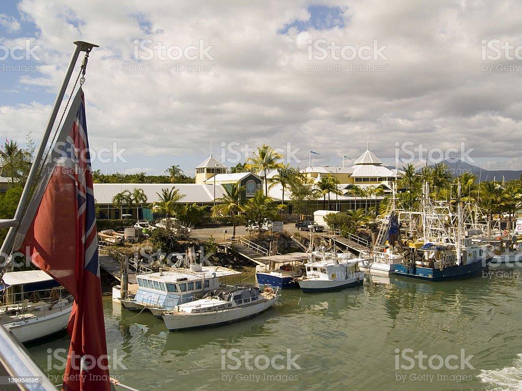 Port Douglas Harbour stock photo