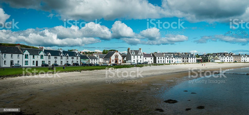 Port Ellen, Islay stock photo