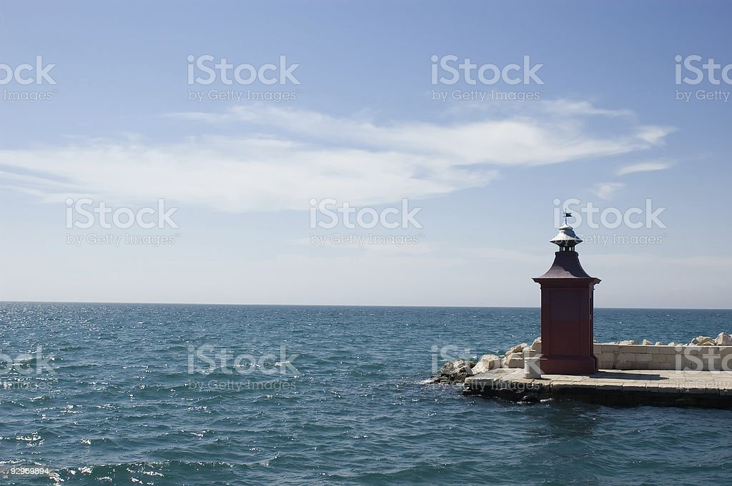 Port entrance Piran stock photo